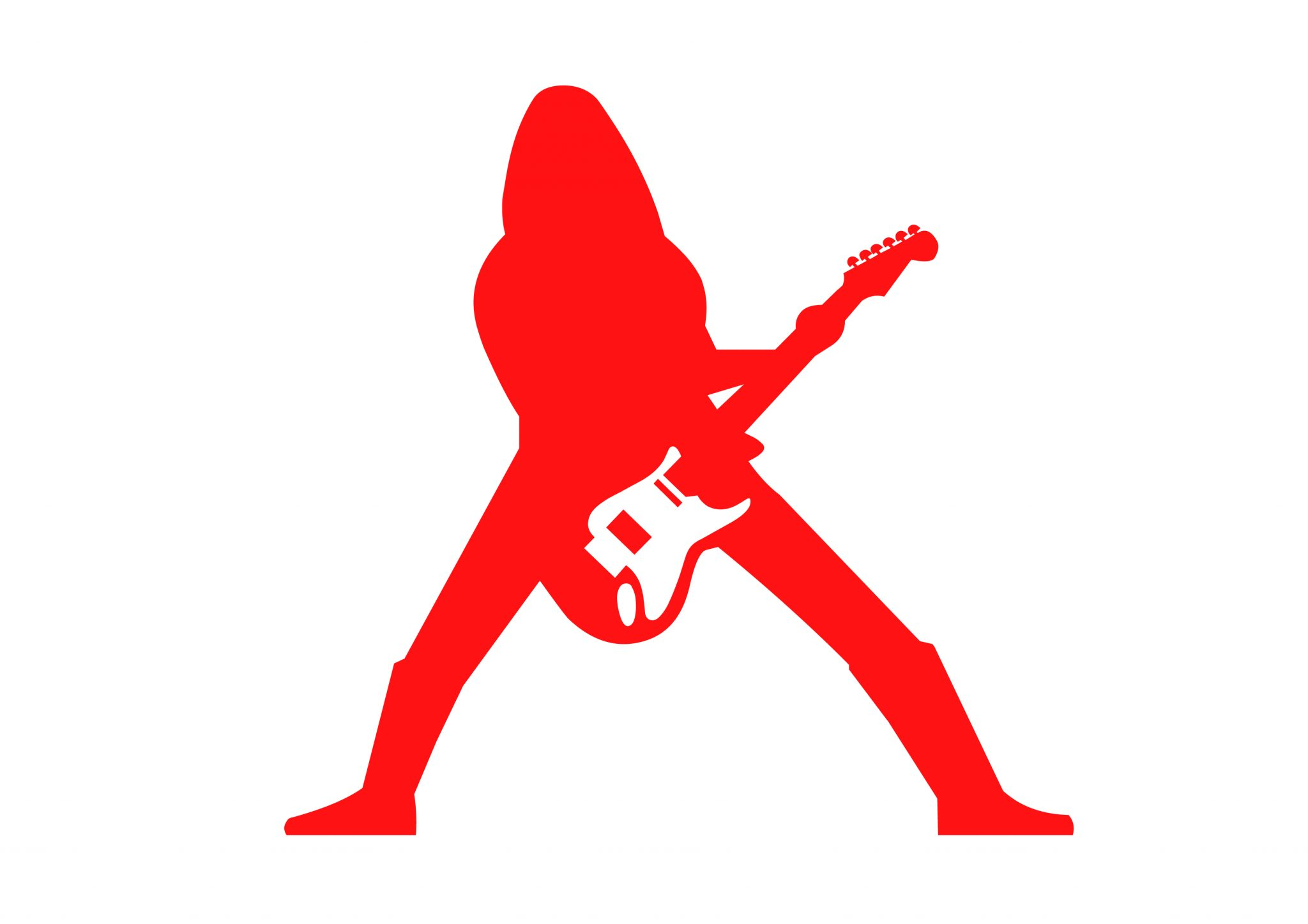 Guitar Man Red