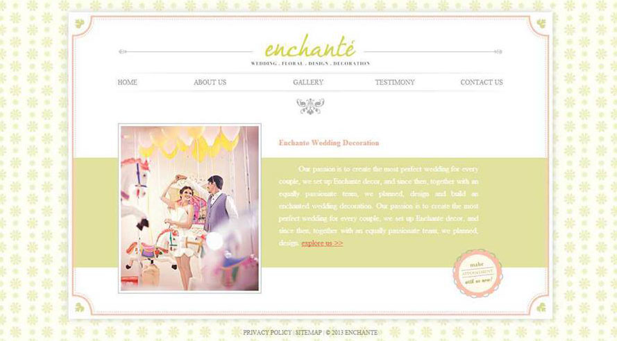 Enchante Decor Website