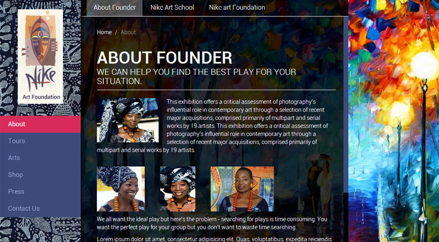Website Nike Art Foundation