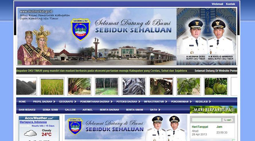 Website Pemkab OKU Timur