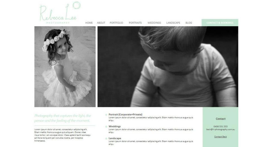 Website Rebecca Lee Photography