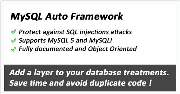 MySQLautoframework